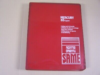 Same Mercury 85 Export Tractor Dealer Parts Catalog Manual Book