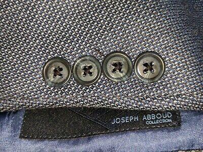 54R Custom Joseph Abboud Geometric SILK WOOL Brown Sport Coat Blazer Jacket