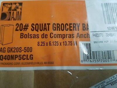 General #20 Squat Brown Paper Grocery Bags - GK20S500