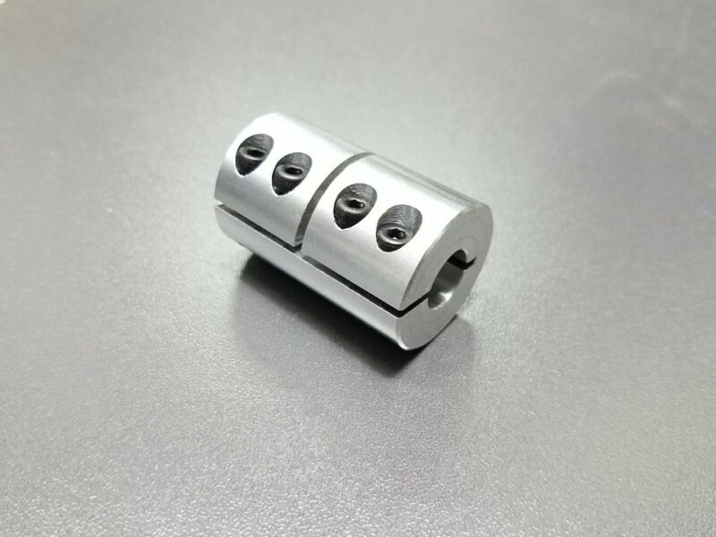 """12MM X 12.7MM / 1/2"""" Rigid Clamp Shaft Coupling Double Length CNC Mill Stepper"""