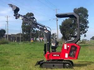 UHI UME10 MINI EXCAVATOR Swing Boom and Expandable Track,  FREE 9 ATTACHMENTS Archerfield Brisbane South West Preview