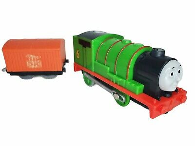 Thomas & Friends Trackmaster Motorized Percy Real Steam LightUp 2014 w/ mail car