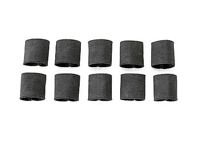 """1"""" Mil-spec Elastic Webbing Strap Keepers - Black - 10 Pack"""