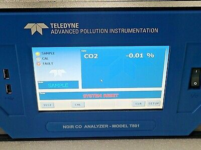 Teledyne Ndir Co Analyzer-model T801 Option 14
