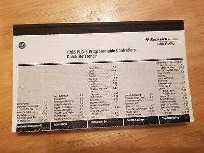 Allen Bradley 1785 PLC-5 Programmable Controllers Quick Reference Guide Allen Bradley Plc Controllers