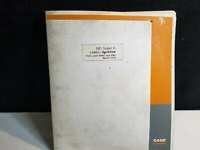 580 Case 580 Super K Backhoe Troubleshooting Schematic Manual.