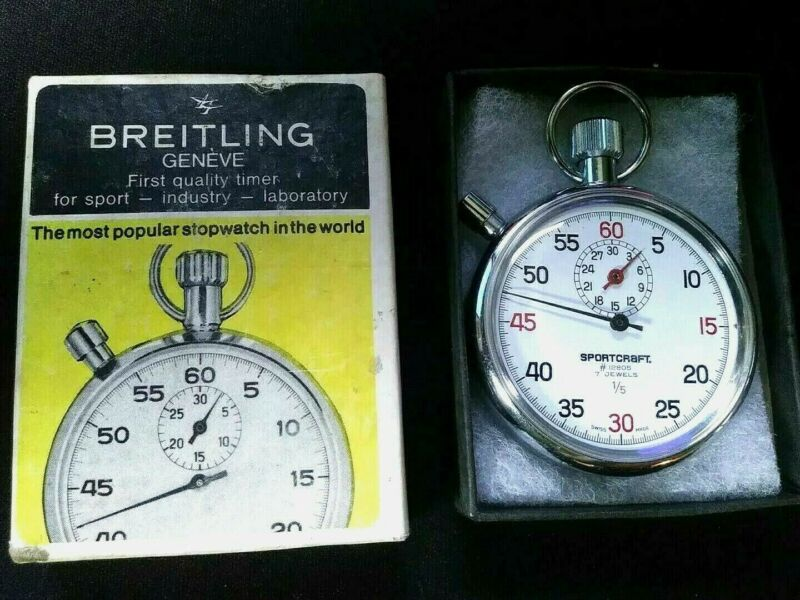 BREITLING Sportcraft 7 Jewels 1/5 SwissMade Mechanical Wind Up Vintage Stopwatch