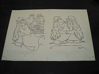 Snugglebumm Coloring Book Original Artwork RARE! Stan Goldberg! ART#0556