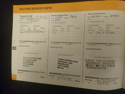 Citroen C4 Grand Picasso service history book stamped