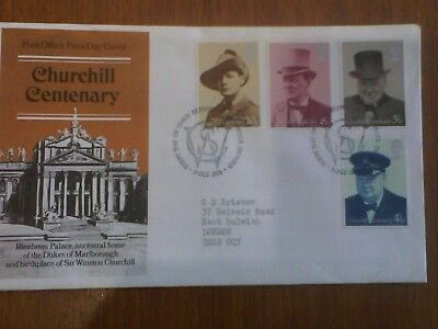 Churchill Centenary. First day Cover 1974