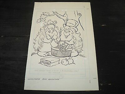 Snugglebumm Coloring Book Original Artwork RARE! Stan Goldberg! ART#0552