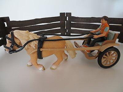 Schleich Ponykutsche mit Pferd