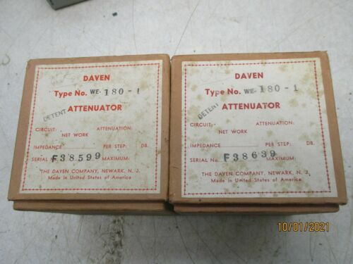 2 daven  for western electric RCA Langevin NOS