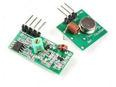 433 Mhz Wireless Data Transmitter And Receiver Kit - For Arduino Etc.
