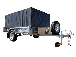 8x5 Single Axel 750kg Galvanized Box Trailer with 800mm Cage & 400mm Sides $45p/w Garbutt Townsville City Preview