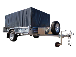 8x5 box trailer $31 p/w Hot Dip Galvanized with 800mm Cage Garbutt Townsville City Preview