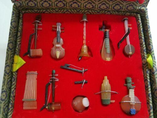 Stunning Semi precious miniature Chinese Dollhouse Instruments