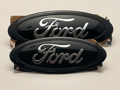 2017 ford escape custom painted black chrome logo emblem set