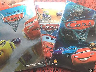 Cars 1 Cars 2 Cars 3 Trilogy DVD Set