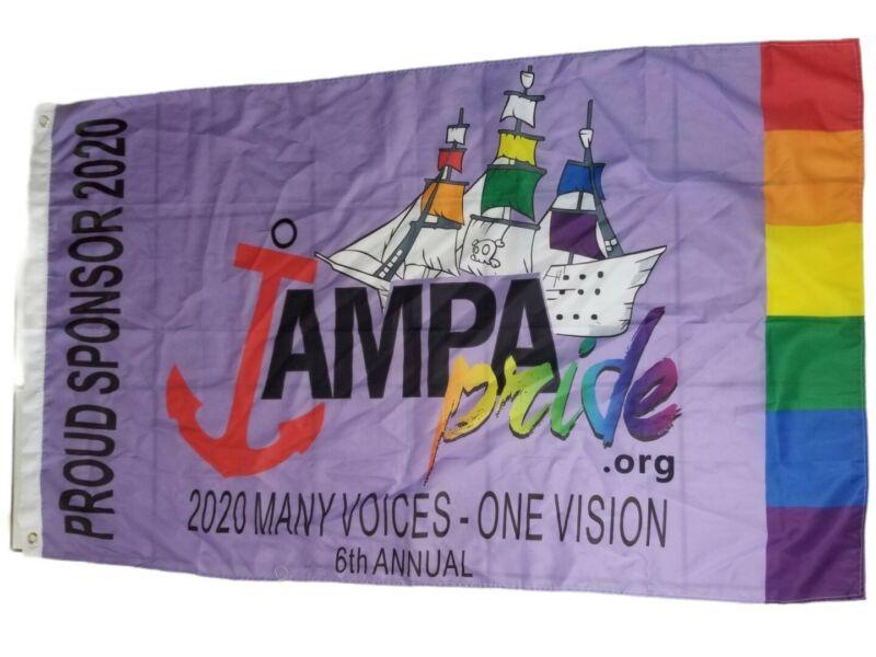Tampa Bay Pride Flag 2020 3x5ft Banner Official Sponsor Pirate Ship