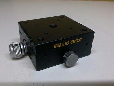 Melles Griot Non-magnetic Brass Hand Adjustable Locking Goniometer 45x45mm
