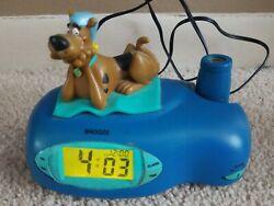 Scooby-Doo Blue Light Projection Digital Alarm Clock )2006)
