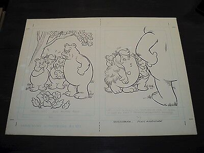 Snugglebumm Coloring Book Original Artwork RARE! Stan Goldberg! ART#0568