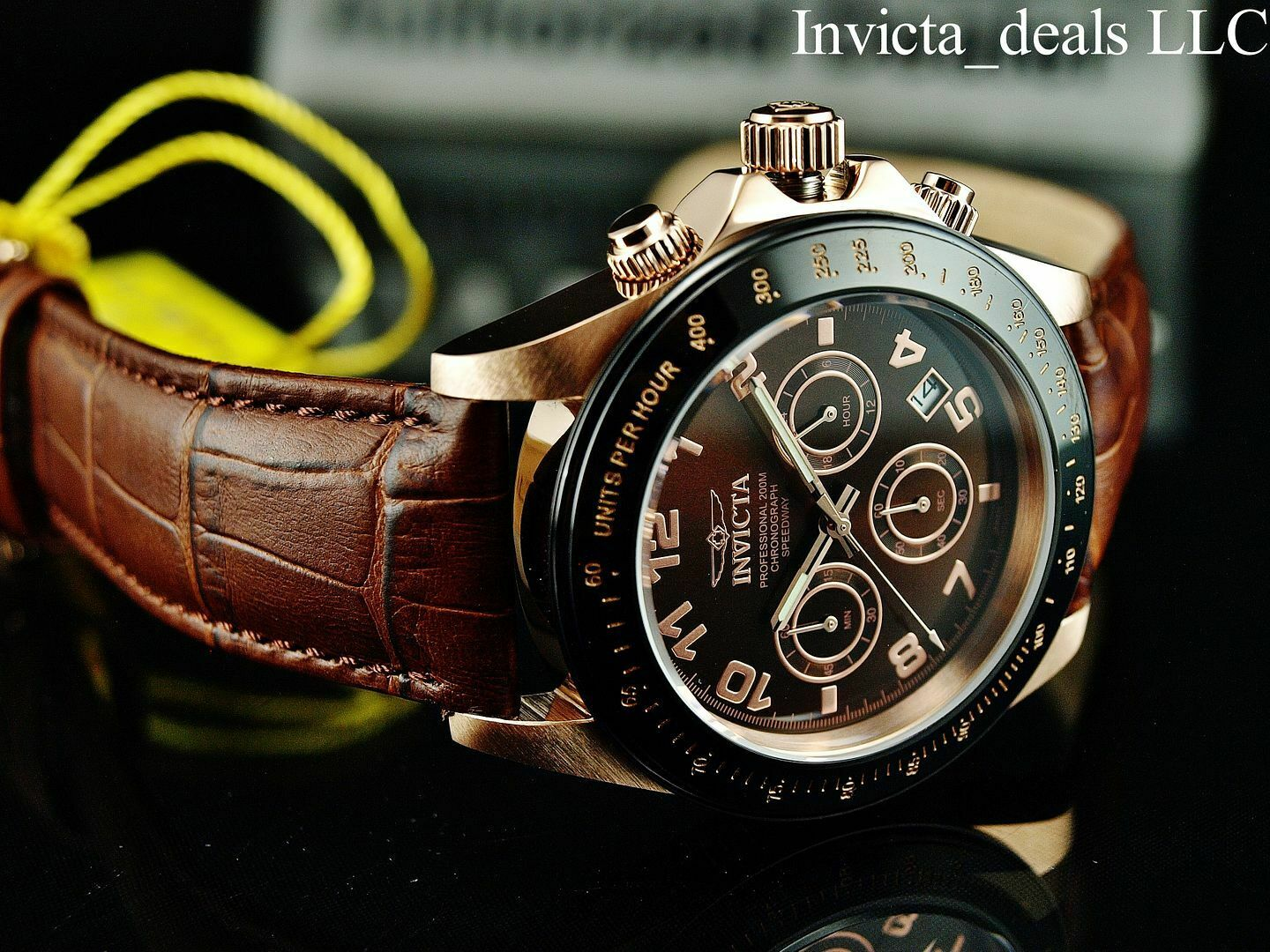 Invicta Men's 10712 Speedway Gold Ion-Plated Stainless Steel