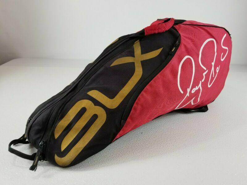 WILSON BLX Multi-Racquet Tennis Shoulder Bag Red Black and Gold
