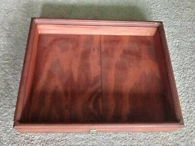 Moving Sale Wood Jewelry Case With Lock Ability Needs Glass 20.5 X 16.5 Inches