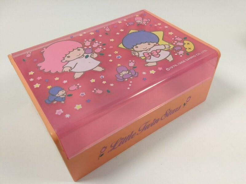 Rare Vintage Sanrio 1988 Little Twin Stars Trinket Jewelry Treasure Keepsake Box