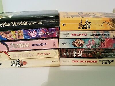 10 Different Mostly Historical Romance Drama Novels Mix of Authors Paperbacks 4