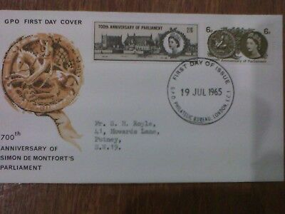 1965 700th Anniversary of Parliament first day cover