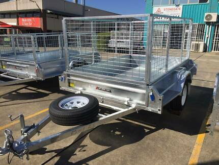 LAST ONE!8x5 Galvanised Box Trailer with 600mm cage Brendale Pine Rivers Area Preview