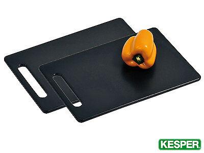 KESPER 2 Stück Schneidebrett 30 x 20 cm Kunststoff schwarz