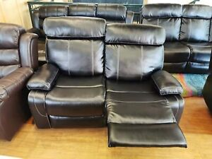BRAND NEW RECLINER SOFA SMOOTH LEATHER INCLUDED DELIVERY ASSEMBLY