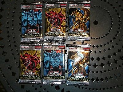 Giants Booster Pack - 6x Yugioh Battle pack 2 War of the Giants booster packs. 1st edition. Brand New.