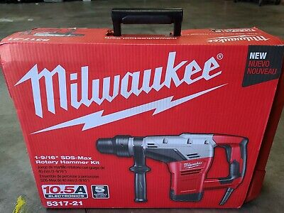 Milwaukee Corded 10.5a 1-916 Sds-max Rotary Hammer Kit Brand New Sealed