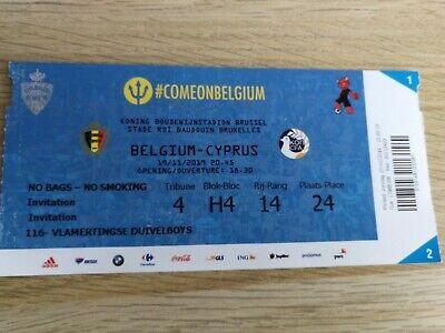 Ticket Perfect : Belgium - Cyprus 19-11-2019 Qualifications Euro 2020