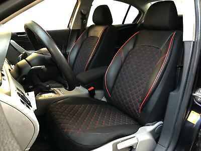 Seat Ibiza IV 6J 2008-2017 Maßgefertigt Maß Sitzbezüge Kunstleder schwarz grau