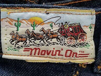 VTG '70s Men's LEVIS Movin' On denim blue jeans  34X34 USA dark wash measure 31L