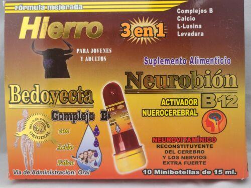 Ampolletas Bedoyecta Neurobion Hierro 10 Botellas 15ml C/U