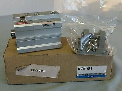 Smc Compact Cylinder Clqd50-25d-b With Bracket Clq-d050 New In Box Wow