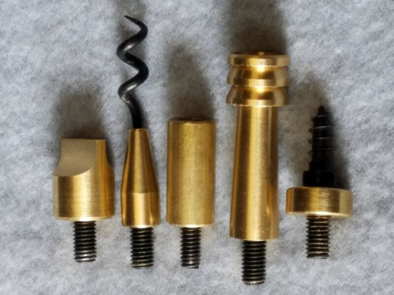 Treso 50 cal. 5 Piece Black Powder Ramrod Accessory Set 10x32 USA MADE 117850-13