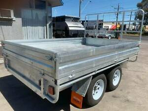 10X7 HEAVY DUTY HOT DIP GALVANISED FLAT TOP BED TRAILER 2800KG Carrum Downs Frankston Area Preview
