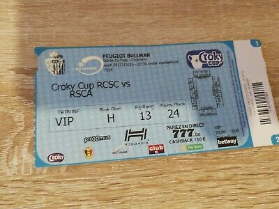 Ticket : Charleroi - Anderlecht coupe Belgique 2016
