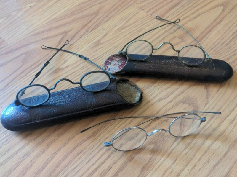 Antique Spectacles Eyeglasses 19th Century American Collection 3 Period...