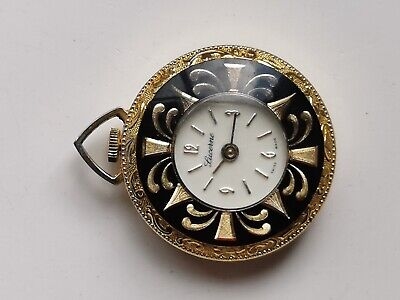 VINTAGE LUCERNE ORNATE GOLD TONE SWISS FOB WATCH FOR SPARES REPAIRS OR PARTS