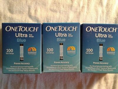 300 One Touch Ultra Blue- Glucose Test Strips-Please read description