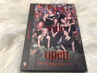 TWICE [EYES WIDE OPEN] - ALL MEMBER Autograph(Signed) PROMO ALBUM #01
